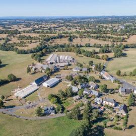 Vue aérienne de Ruzolles